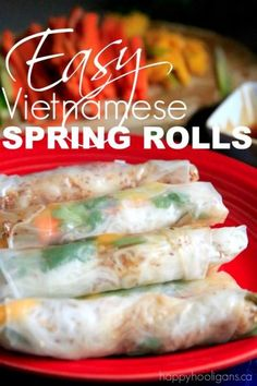 How to Make Healthy Vietnamese Spring Rolls at Home