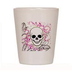 feminine skull shot glass