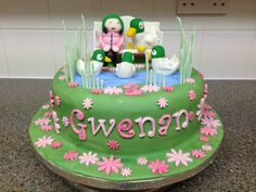 Sarah and Duck Kids Birthday Themes, 4th Birthday, Birthday Parties, Birthday Cake, Sarah Duck, Duck Cake, Little Girl Birthday, Cake Designs, Party Planning