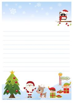 Letterina a Babbo Natale da stampare gratis - Alice B. Christmas Activities, Christmas Printables, Christmas Crafts, Christmas Ornaments, Happy Christmas Day, Xmas, Santa Letter Template, Christmas Border, Classroom Projects