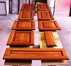 Steps to staining cabinets