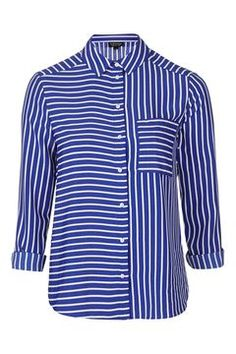 Mix Panel Stripe Shirt