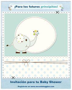 Si ya sabes que será varón, tal vez esta es la tarjeta de invitación de Baby Shower que soñabas: