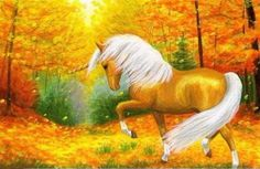 Image result for fall with horses