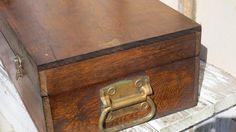 Old Wooden Boxes - Shop for farmhouse, beach, and cottage antiques @ http://smallholdingsfarm.com