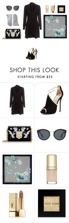 """Choker dress"" by charlottes-styles on Polyvore featuring mode, A.L.C., Jimmy Choo, Prada, Gucci, Dolce&Gabbana, Yves Saint Laurent, Bobbi Brown Cosmetics, Vivienne Westwood en charlottesstyles"