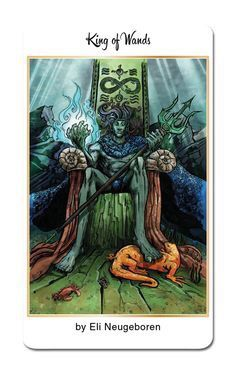 Featured Card of the Day – King of Wands – 78 Tarot Nautical/Tarot of the Water « Tarot by Cecelia