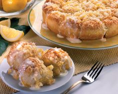 Citrus lovers will enjoy these sweetened rolls baked together in a deep dish pizza pan.