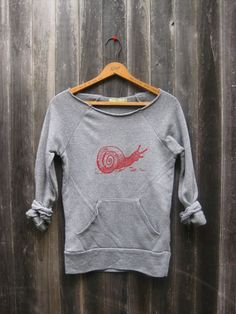 not so shy Snail Sweatshirt, Snail Sweater, Hiking Top, S,M,L,XL on Etsy, $36.00