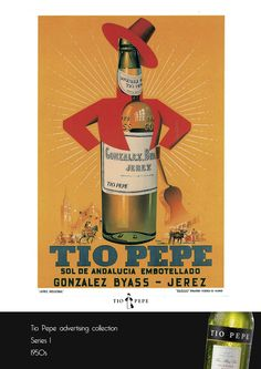 Old Tio Pepe Poster 1950s