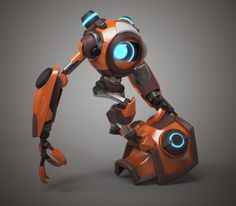 I originally intended to make it with a weapon that I even modeled, but with it it did not look very interesting and I focused more on the friendship with her robot. Most of the sculpted and modeled in Character Modeling, Game Character, Character Concept, Futuristic Art, Futuristic Technology, Sprites, Robot Parts, Robots Characters, Arte Robot