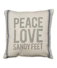 Look at this #zulilyfind! 'Sandy Feet' Throw Pillow #zulilyfinds