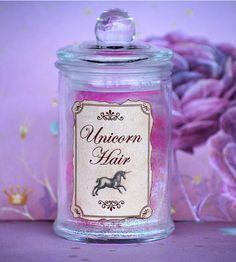 Unicorn Hair - magickal apothecary jar by enchantedbyfae