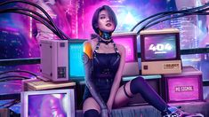 Cyberpunk 2077 is an upcoming action role-playing video game developed and published by CD Project. It is scheduled to be released for Microsoft Windows, PlayStation 4, PlayStation 5, Stadia, Xbox One, and Xbox Series X/S on 19 November 2020. Cyberpunk Girl, Cyberpunk 2077, Live Stream Music, Hip Hop Youtube, Friend Advice, Cd Project, Music Radio, Gaming Wallpapers, Retro Art