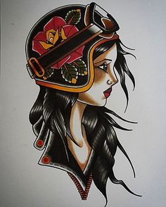#motorcyclegirl #tattoofrankfurt #traditionaltattoo #oldschooltattoo #gipsygirltattoo #tattooflash