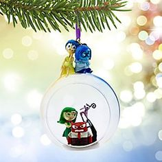 Disney•Pixar Inside Out Glass Globe Sketchbook Ornament | Disney StoreDisney%u2022Pixar Inside Out Glass Globe Sketchbook Ornament - Joy and company are primed to celebrate the season with a penthouse view of the party from this glass globe ornament. Part of our Sketchbook Collection, inspired by Disney%u2022Pixar <i>Inside Out</i>, it's sure to stir your emotions.