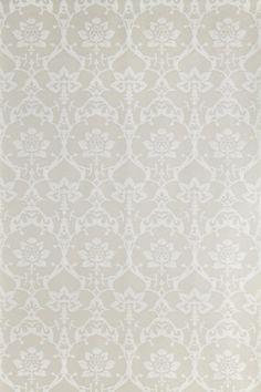 Brocade by Farrow & Ball - White / Soft Grey - Wallpaper : Wallpaper Direct Hallway Wallpaper, Damask Wallpaper, Paper Wallpaper, Home Wallpaper, Colorful Wallpaper, Wallpaper Patterns, Bedroom Wallpaper, Wallpaper Ideas, Free Wallpaper Samples