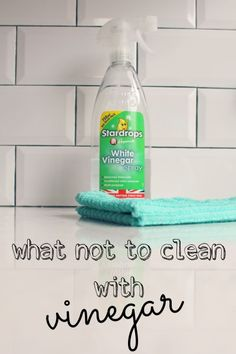 what not to clean with vinegar