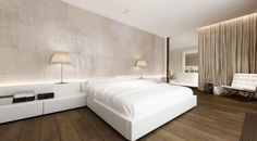 A Collection of 100 Platform Bed Designs and Ideas Including Modern, Contemporary, and Transitional styles for Master and Guest Bedrooms Home Bedroom, Modern Bedroom, Bedroom Decor, Bedroom Neutral, Modern Interior, Interior Architecture, Interior Design, White Platform Bed, Platform Bed Designs