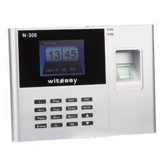 """N-308 de 2.8 """"TFT de asistencia biométrico de huellas dactilares reloj de tiempo del empleado de nómina Grabadora Instrucción detallada * incluido *"""