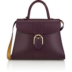 Delvaux Brillant GM Leather Satchel | Barneys New York (469.135 RUB) ❤ liked on Polyvore featuring bags, handbags, leather handbags, leather satchel, purple leather handbags, purple satchel purse and purple purse