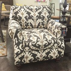 Love this fun pattern! Need a great accent chair for your home? We have a great selection to choose from!
