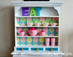 Repurposed Kids Play Kitchen Hutch