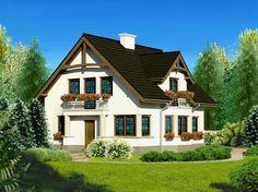 DOM.PL™ - Projekt domu Dom przy Przyjaznej CE - DOM EB2-82 - gotowy projekt domu Home Fashion, My House, Arch, Cabin, Mansions, House Styles, Fairy, Home Decor, Garden