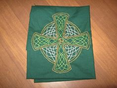 Celtic cross embroidery #embroidery #cross #celtic