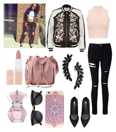 """""""Shopping in London with Leigh"""" by briannaduffin on Polyvore featuring WearAll, Miss Selfridge, River Island, Cristabelle and Rimmel"""