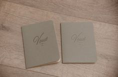 retro vow notebooks