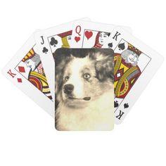 Vintage Australian Shepherd Playing Cards