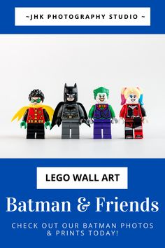 Lego Wall Art, Batman Wall Art, Kids Room Wall Art, Batman Robin, Modern Art Prints, Wall Art Prints, Lego Pictures, Lego Photo