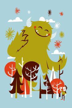 Friendly Demeanour by Greg Abbott Little Monsters, Cute Monsters, Cute Monster Illustration, Character Illustration, Illustration Art, Monsters Vs Aliens, Cartoon Monsters, Monster Squad, Monster Art