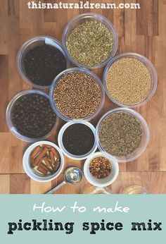 We tried out a many different pickling spice mixes but loved any. Inspired by many recipes, we created our own homemade pickling spice mix recipe. Homemade Spice Blends, Spice Mixes, Fermentation Recipes, Canning Recipes, How To Make Pickles, Making Pickles, Homemade Pickles, Homemade Seasonings, Seasoning Mixes