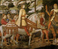 Dariusz caballeros: XV century horses and their tack in Cappella dei Magi, Florence