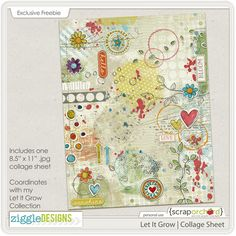 I made this collage sheet and printed it up on circle sticker labels that I can add as elements to my art journal pages. Mini Albums, Home And Deco, Blog Design, Art Journal Pages, Collage Sheet, Project Life, Overlays, Creations, My Arts