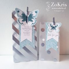 Stampin' Up! - Silver Fancy Foil Designer Vellum, Watercolor Wings, Bold Butterfly Thinlits Dies - ZoKris