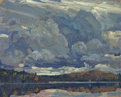 tom thomson, Grey Sky, 1914 [oil on wood; x cm Canadian Group of Seven Group Of Seven Artists, Group Of Seven Paintings, Emily Carr, Canadian Painters, Canadian Artists, Landscape Art, Landscape Paintings, Photo Ciel, Tom Thomson Paintings