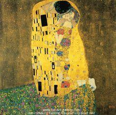 "Lydia Anneli Bleth: Austrian Symbolist painterGustav Klimt ""The Kiss""..."