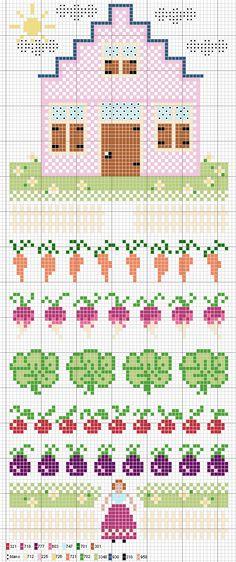 Love the veggie border patterns - something for a gardener?