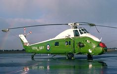 Westland Wessex HU5 XT772 serving with 781 Naval Air Squadron at Lee-on-Solent at Southend in January 1979