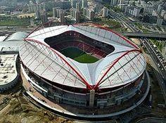 Benfica - New Stadium - Lisboa - Portugal Football Final, National Football Teams, Juventus Stadium, Wembley Stadium, Soccer Stadium, Football Stadiums, Soccer Sports, Football Mondial, England Fans