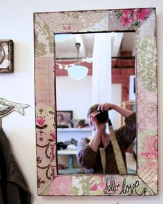 Love this mirror designed by Kelly Rae Roberts love this want