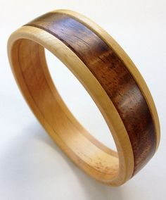 Wood Bangle Bracelet in Alaska Yellow Cedar and by UpcountryDesign