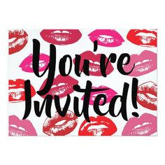 Shop Lips You're invited Invitation created by FROdominatrix. Pure Romance Party, Pure Romance Consultant, Mary Kay Party, Mary Kay Cosmetics, Facebook Party, Youre Invited, Color Street, Invitation, Pure Products