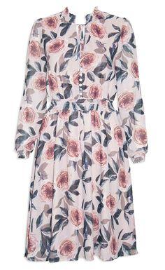 Trixie Beige Floral Dress