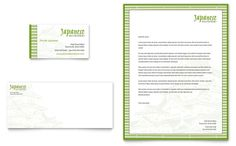 Japanese Restaurant - Business Card & Letterhead Template Design
