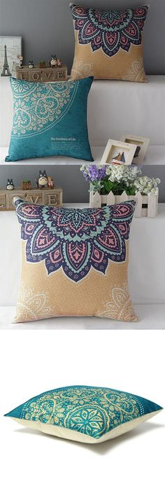 pillow cover set, bohemian / hippie style, decorative pillow covers