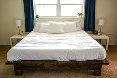 Making A Bed Frame, King Bed Frame, King Beds, Queen Beds, Build A Platform Bed, Huge Bed, Built In Bed, Full Mattress, Office Makeover